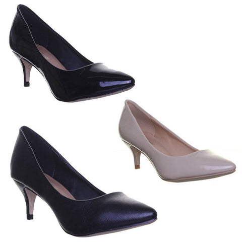 WOMENS STILETTO COURT OFFICE LADIES FASHION SHOES SIZE 3 4 5 6 7 8 SIZE UK 3 - 8