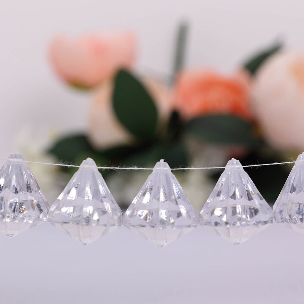 90 PCS 30MM EXTRA Large Acrylic Tear Drop Diamond Crystal Garland Wedding Party Decoration - Clear