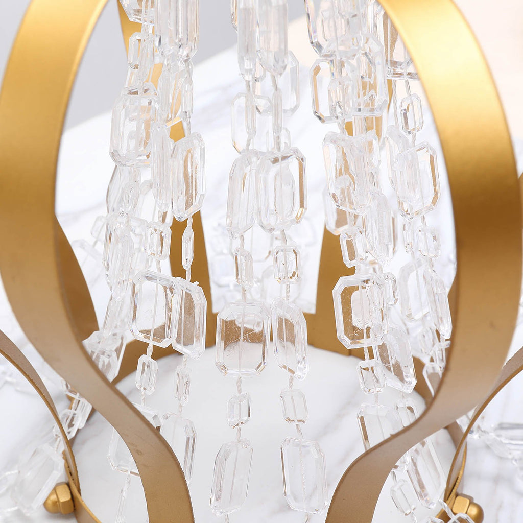 10 Yards Clear Acrylic Crystal Garland Hanging Wedding Party Decoration Diamond Necklace Design
