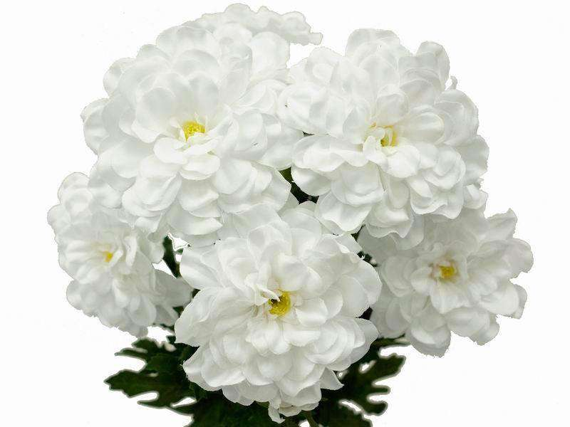 72 Artificial Zinnia Flowers Bridal Bouquet Wedding Vase Centerpiece Decor-White