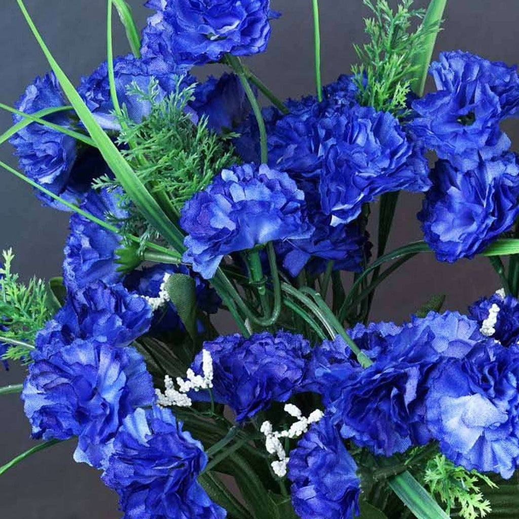 252 Wholesale Carnation Flowers Wedding Vase Centerpiece Decor - Royal Blue