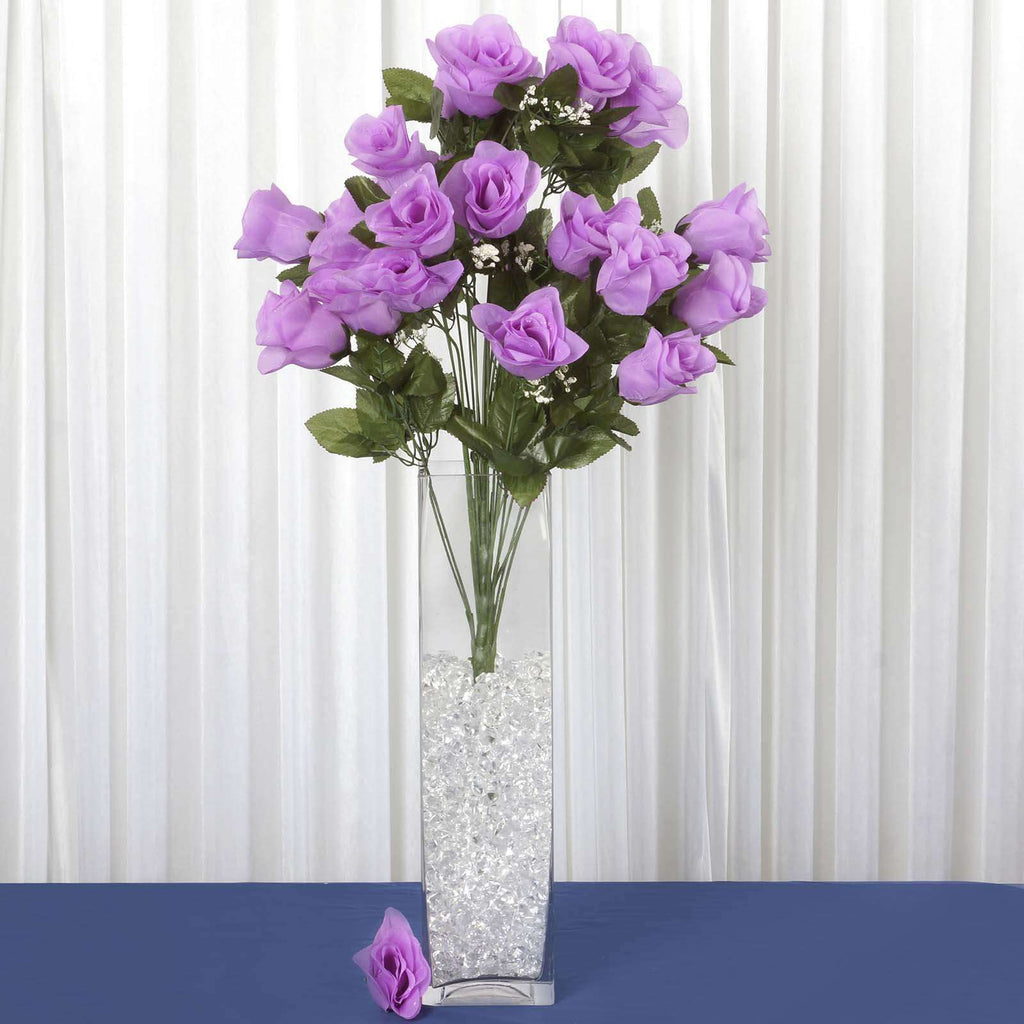 4 Bush Lavender 96 Large Rose Buds Real Touch Artificial Silk Flowers