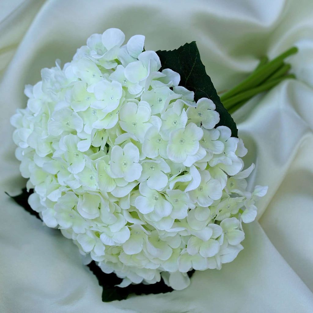 Cream Artificial Hydrangea Flower Wedding Bridal Bouquet - Buy 1 Get 3 Free