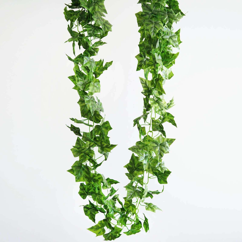 8 Ft Green UV Protected Ivy Vine Leaf Chain Artificial Garland Wedding Arch Stage Decoration