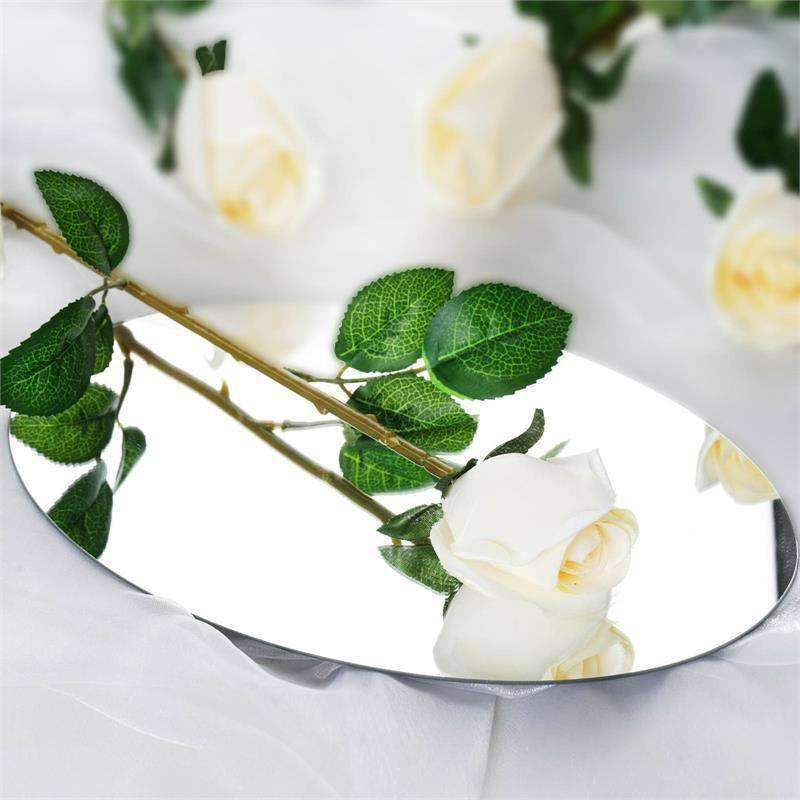 24 Artificial Long Stem Roses Wedding Bouquet Vase Centerpiece Floral Decoration - Cream