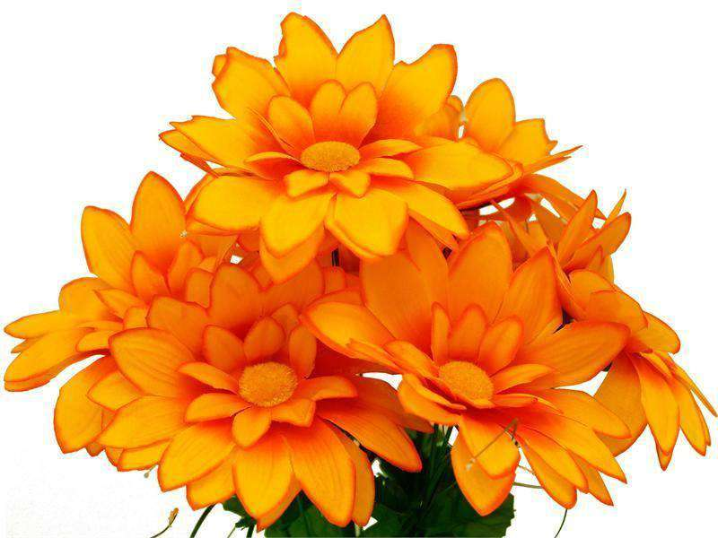 108 Artificial Westfield Alba Flowers Bridal Bouquet Wedding Vase Centerpiece Decor- Orange