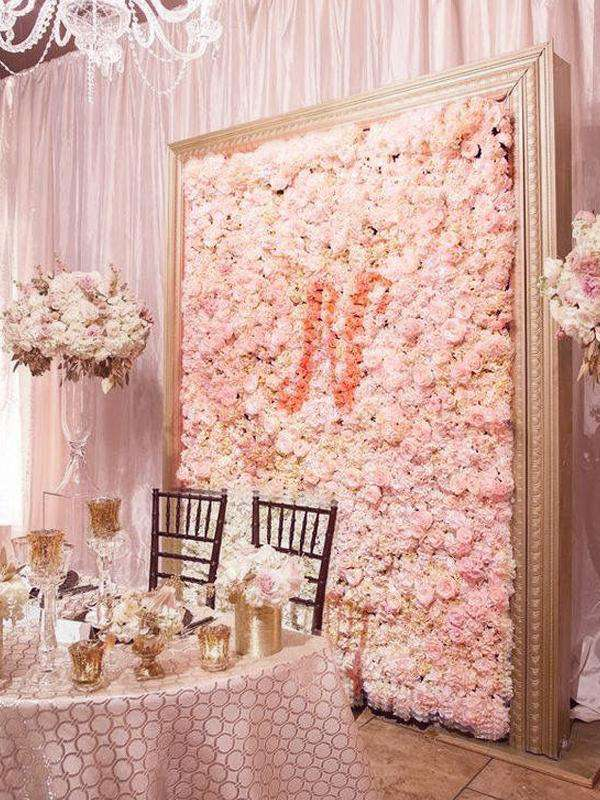 4 Pack 11 Sq Ft Uv Protected Rose Gold Blush Hydrangea Flower Wall D Chaircoverfactory