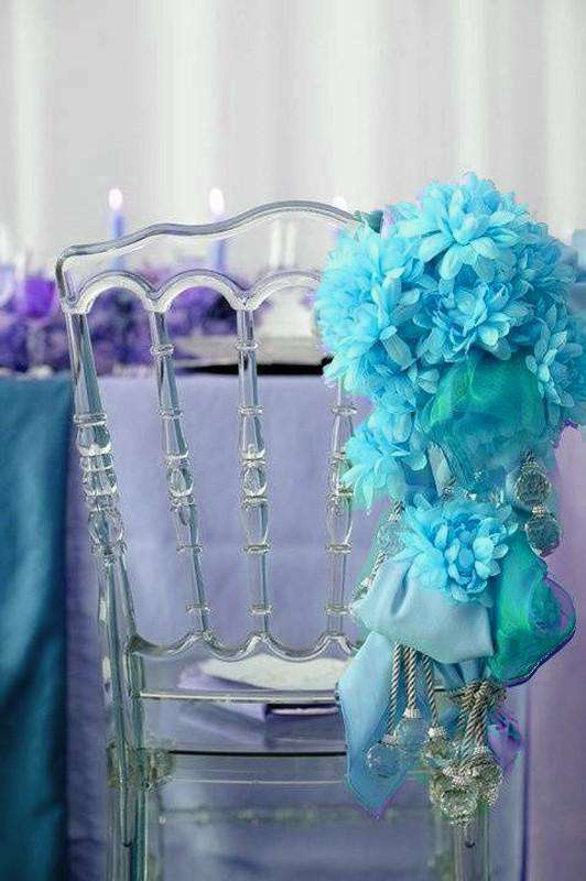 4 Bush 56 pcs Turquoise Artificial Silk Chrysanthemum Flower Bridal Bouquet Wedding Decoration