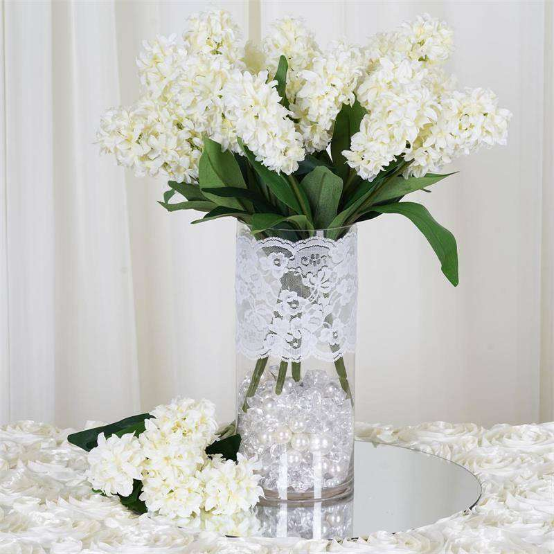 25 Artificial Hyacinth Flowers - Cream – ChairCoverFactory