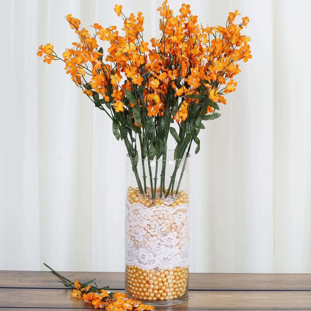 12 Silk Baby Breath-Orange