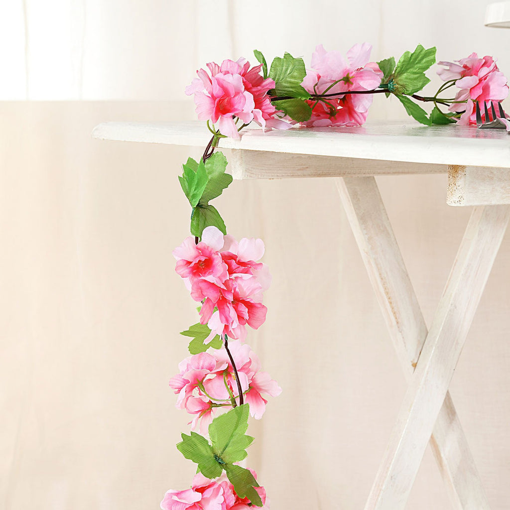 Artificial Cherry Blossom, Silk Flower Garland, Hanging Vines