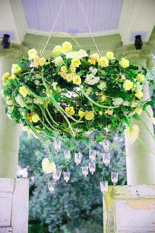 12 Bush 180 pcs Yellow Artificial Silk Rose Bud Flowers With Baby Breath  Bridal Bouquet Wedding Decoration