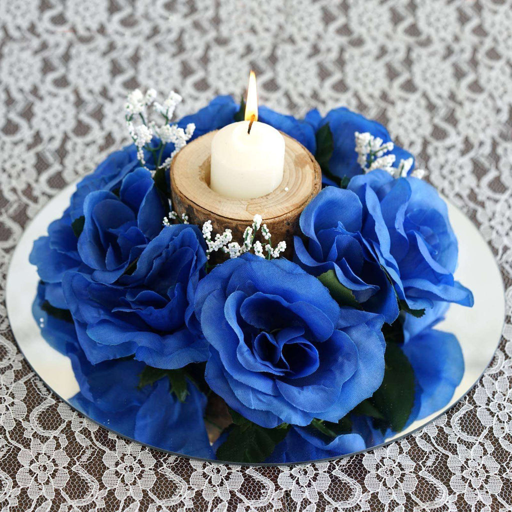 8 PCS Wholesale Candle Rings Wedding Flower Rose Tabletop Centerpieces Gift - Royal
