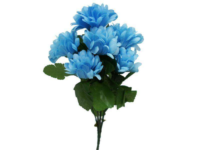 84 Silk Chrysanthemum - Light Blue