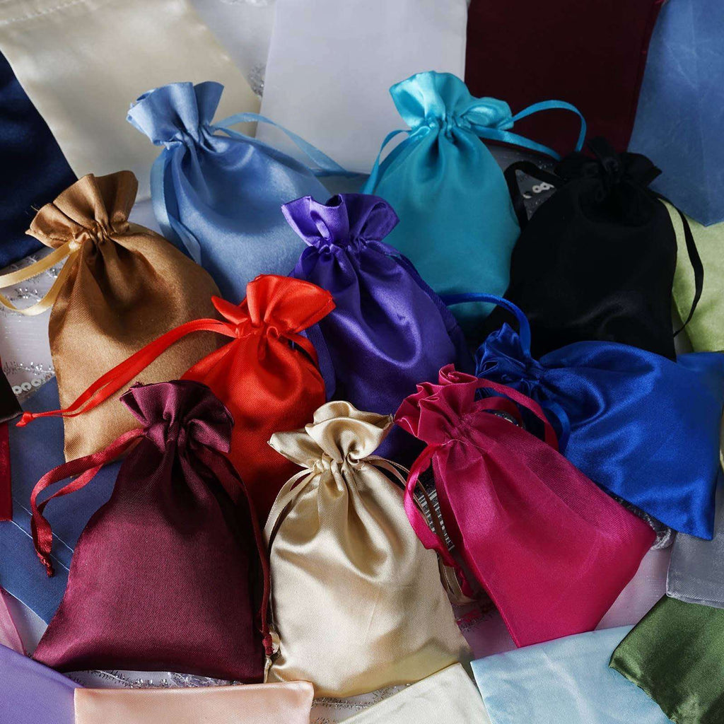 "4 x 6"" Baby Blue Satin Bags"