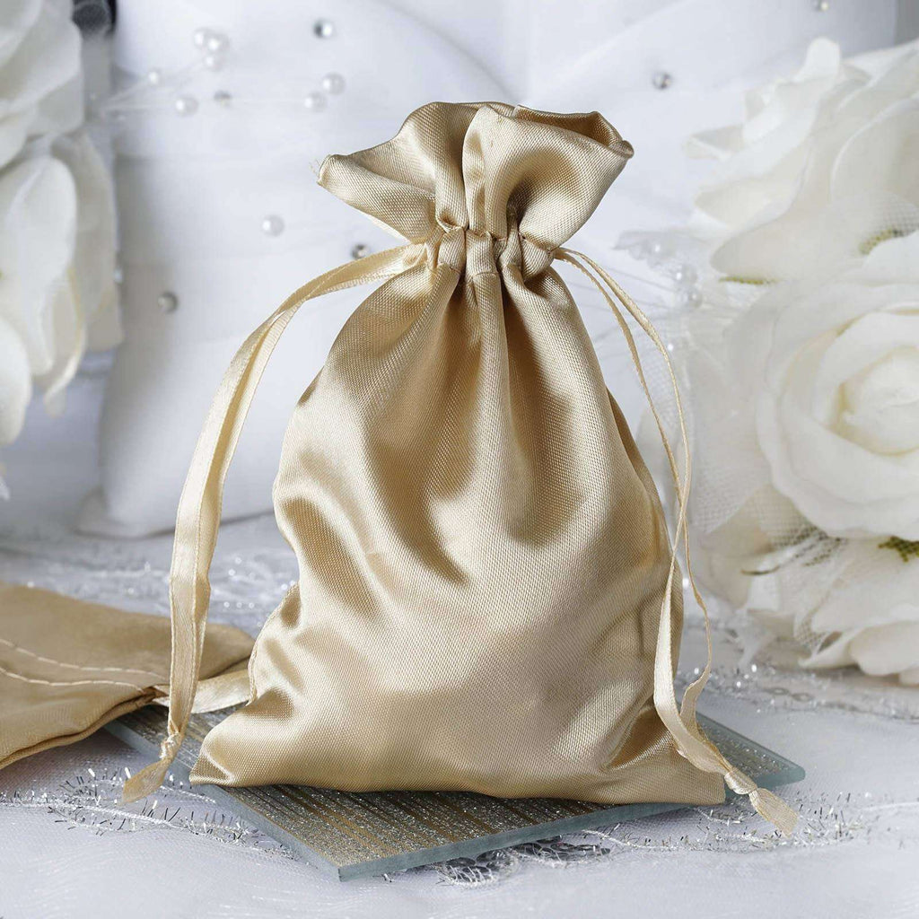 "4 x 6"" Champagne Satin Bags"