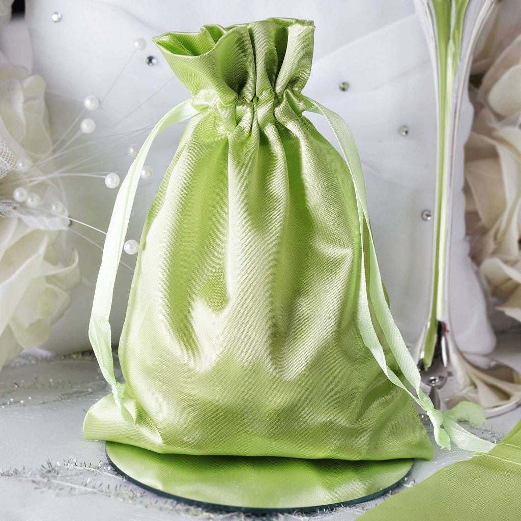 "5 x 7"" Apple Green Satin Bags"