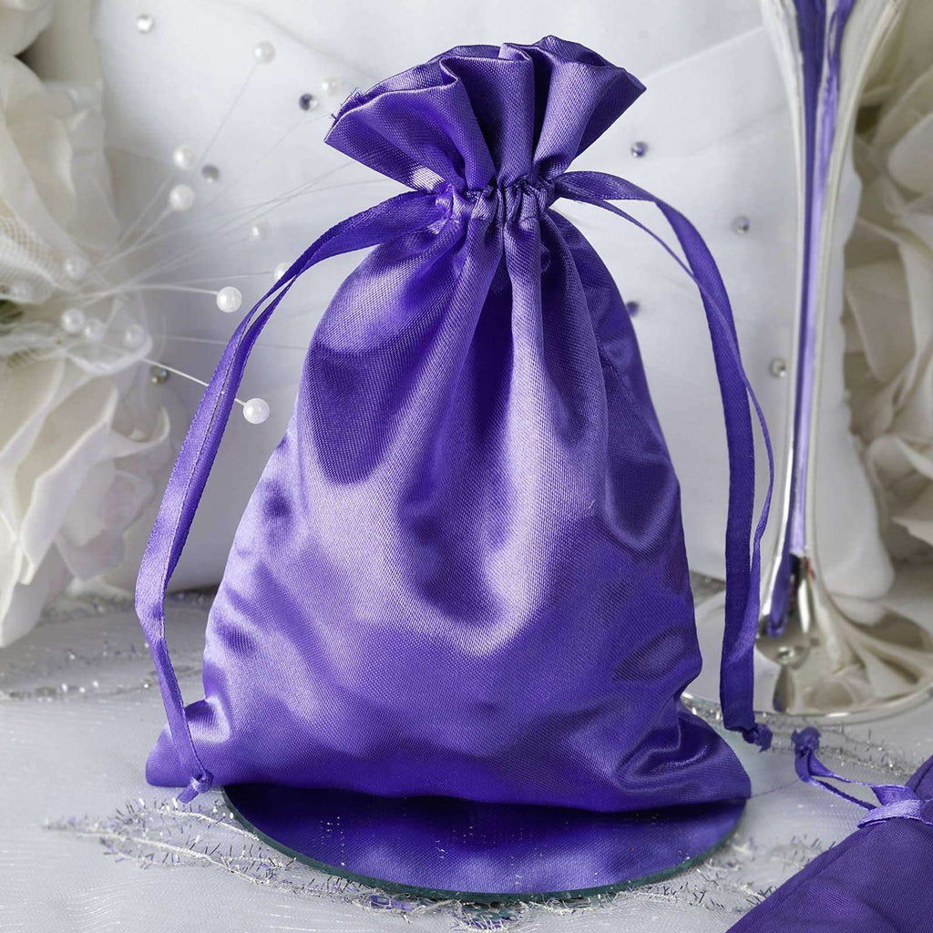 "5 x 7"" Purple Satin Bags"