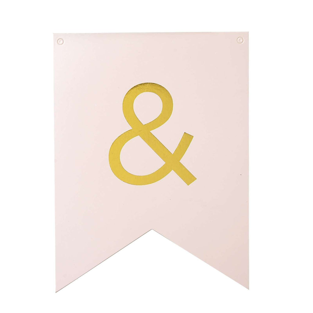 "7"" Gold Personalized Alphabet Party Birthday Banner Pennants"