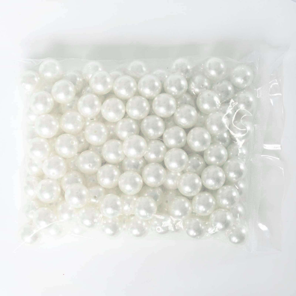 120 Pack 20mm White Faux Pearl Beads Vase Fillers