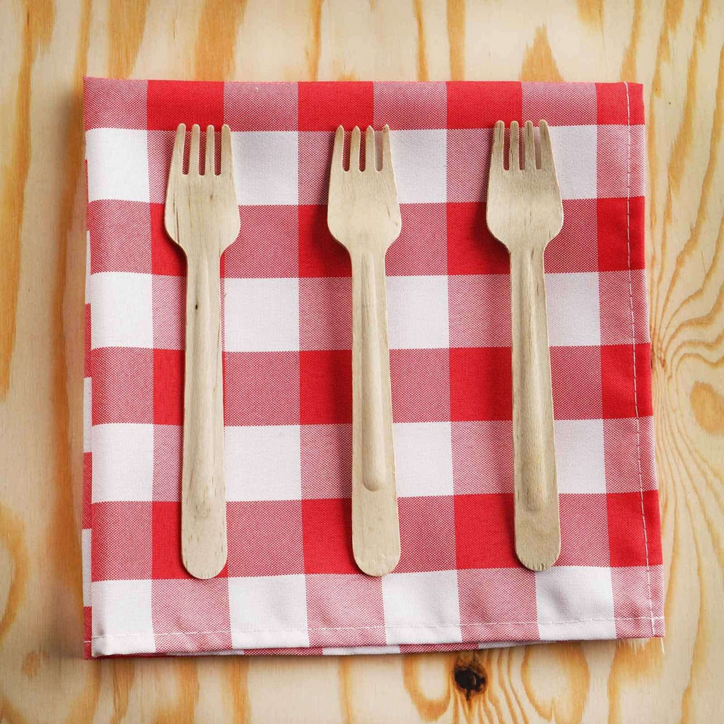 100 Pack - Environmentally Friendly Disposable Birchwood Fork