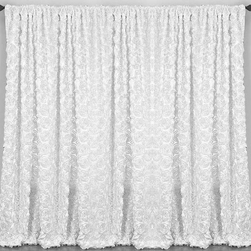 20ft X 10ft Grandiose Rosette Wedding Party Event Photography Backdrops