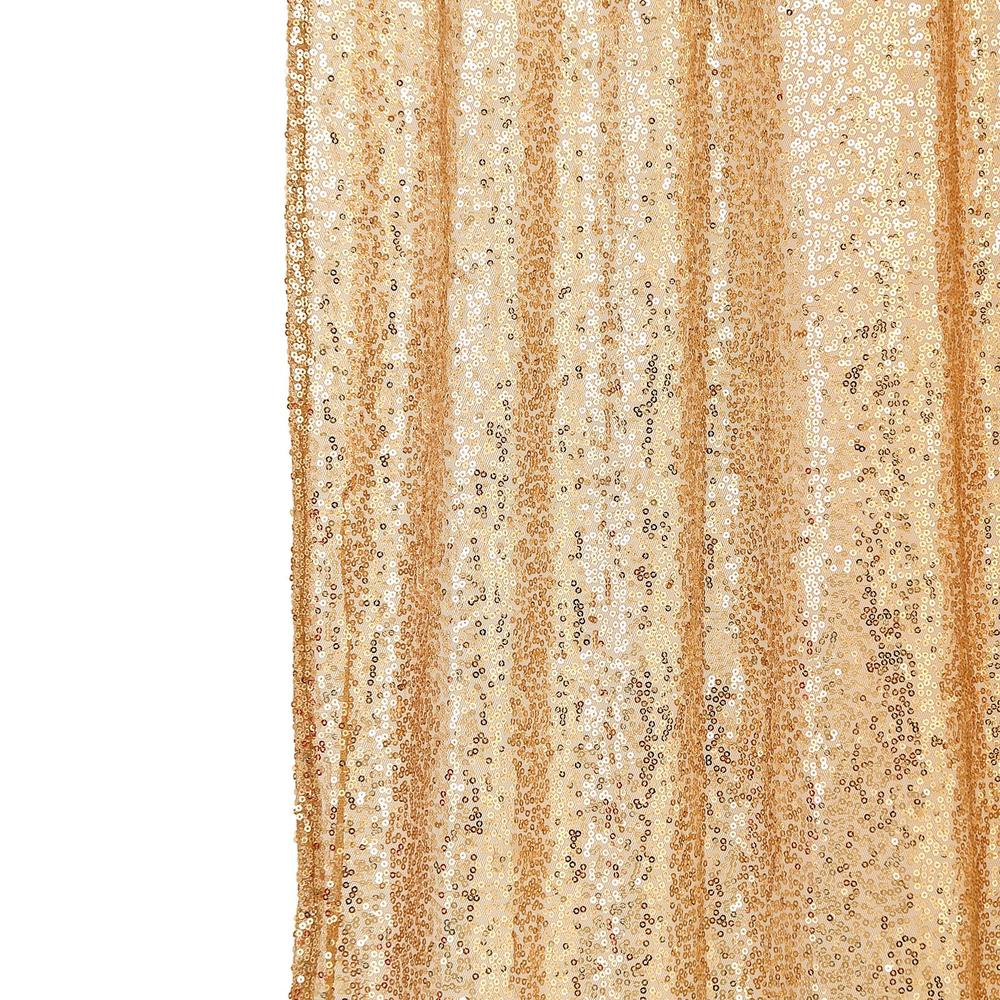 8ft Gold Sequin Backdrop | Sequin Photo Booth Backdrop | Photography Backdrop With Rod Pockets