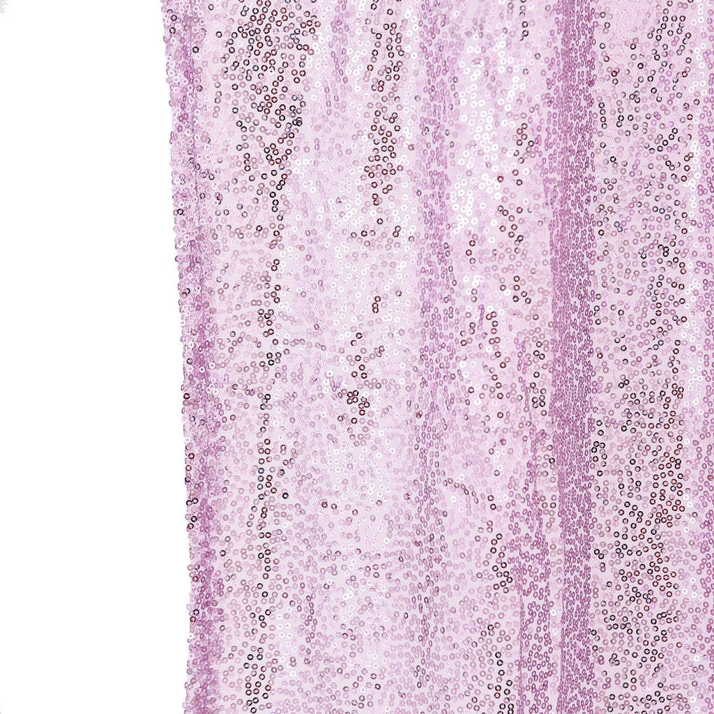 8 FT Lavender Sequin Curtains | Photo Booth Backdrop With Rod Pocket