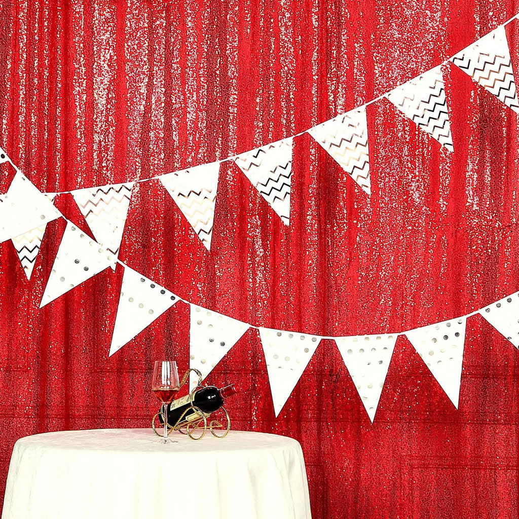8ft x 8ft Red Sequin Backdrop | Sequin Photo Booth Backdrop