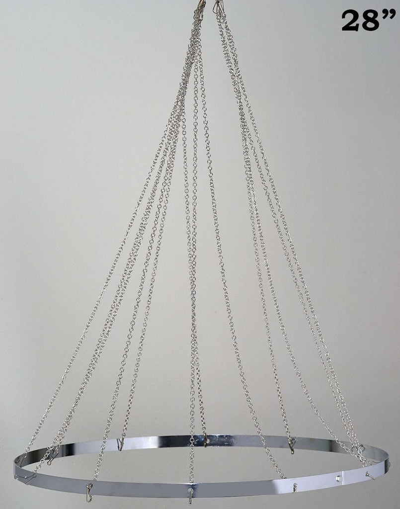 "12 Panel 28"" Hoop Ceiling Draping Hardware Kit For Wedding Party Banquet Event - FREE Tool Kit"