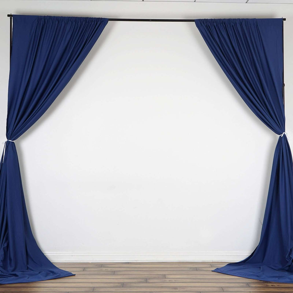 10FT Navy Polyester Curtain Stage Backdrop Partition - Premium Collection