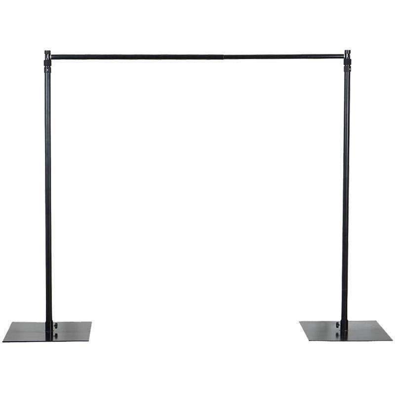 10ft x 10ft Adjustable Heavy Duty Pipe and Drape Kit Backdrop Support with Weighted Steel Base