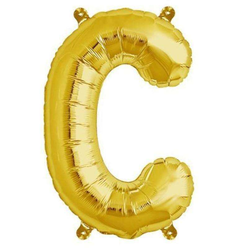 "16"" Shiny Gold Mylar Foil Letter Helium Balloons Birthday Party - C"