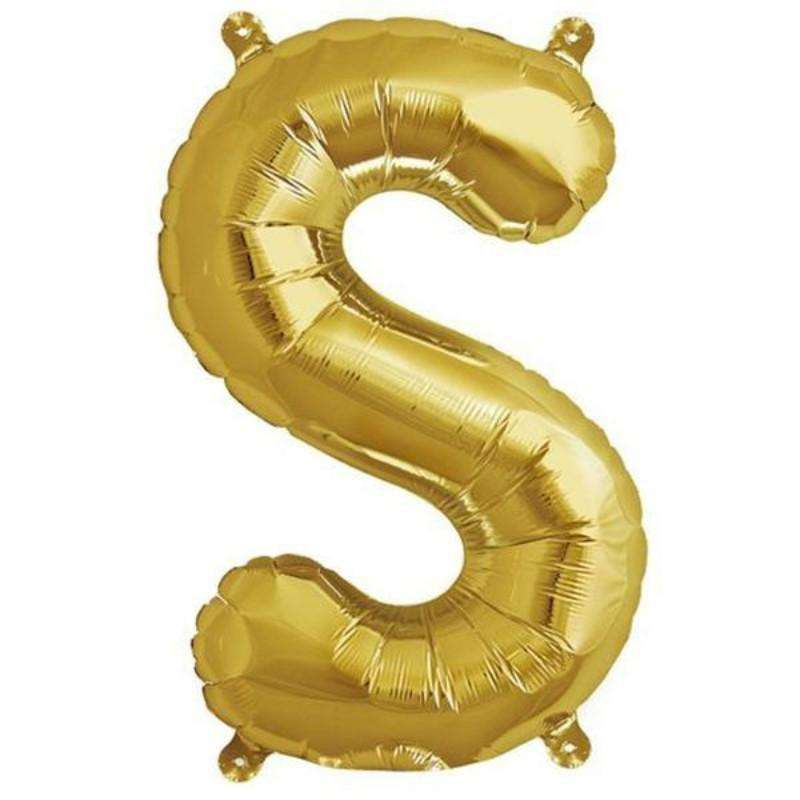 "16"" Shiny Gold Mylar Foil Letter Helium Balloons Birthday Party - S"