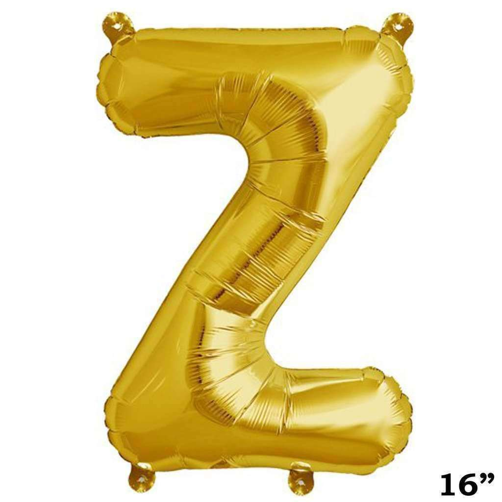 "16"" Shiny Gold Mylar Foil Letter Helium Balloons Birthday Party"