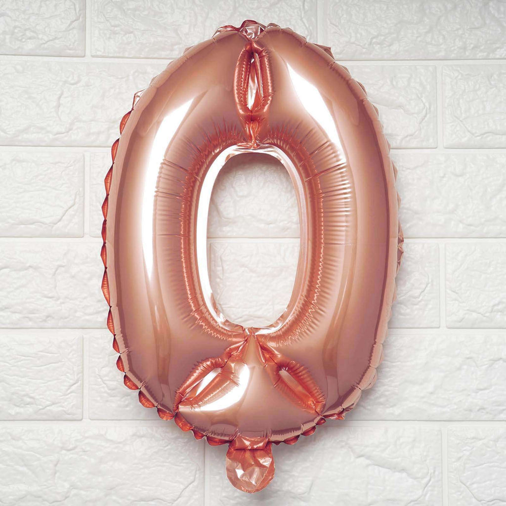 "16"" Rose Gold Mylar Foil Number Helium Balloons Birthday Party - 0"