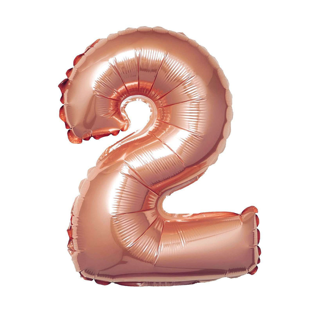 "16"" Rose Gold Mylar Foil Number Helium Balloons Birthday Party - 2"
