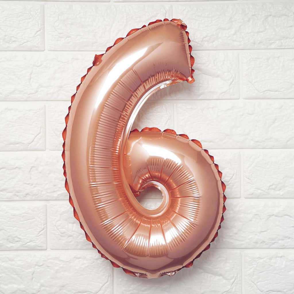 "16"" Rose Gold Mylar Foil Number Helium Balloons Birthday Party - 6"