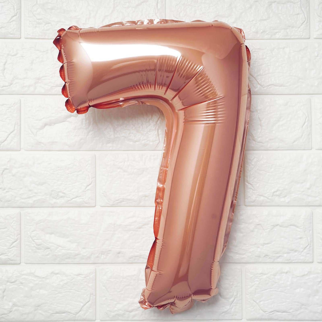 "16"" Rose Gold Mylar Foil Number Helium Balloons Birthday Party - 8"
