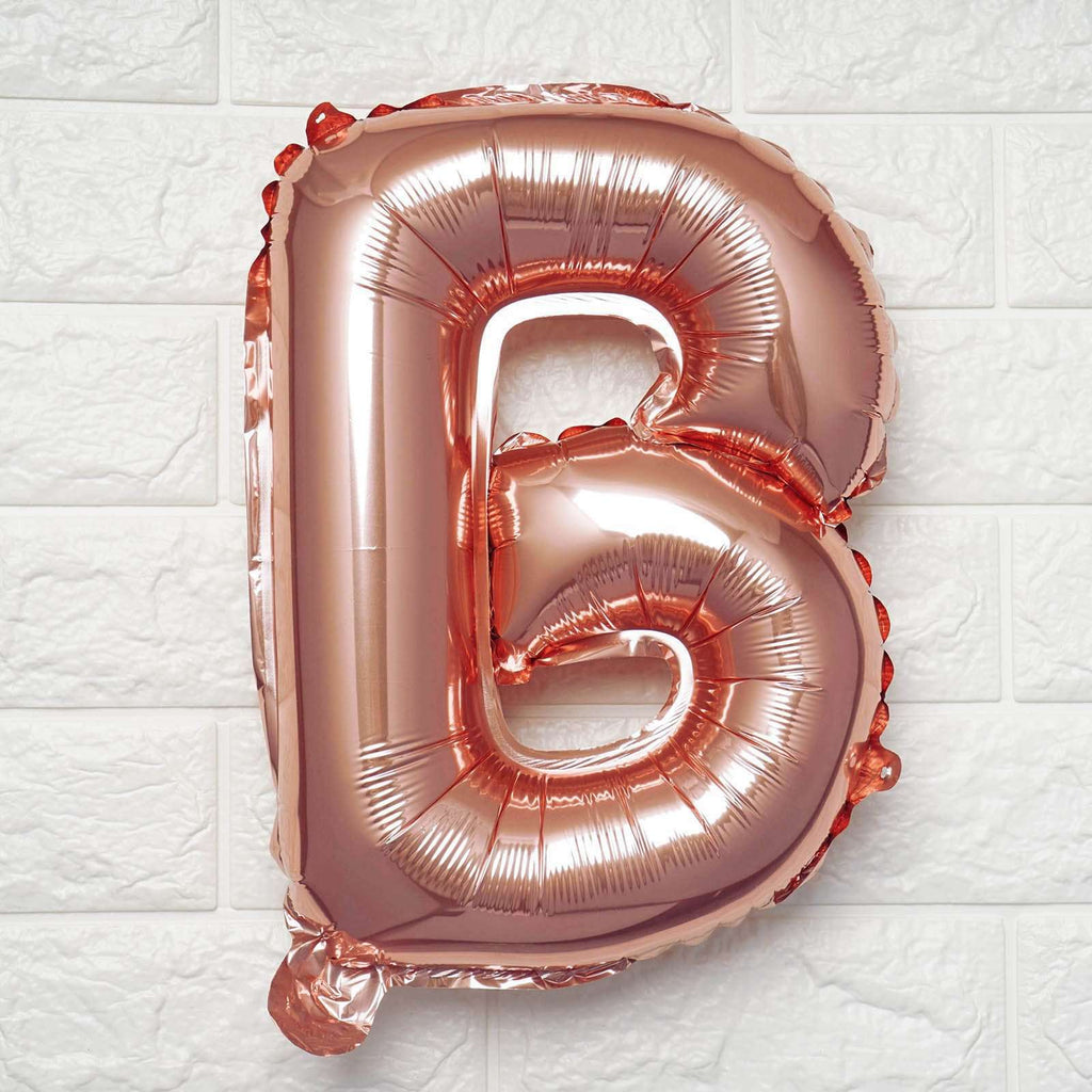 "16"" Rose Gold Mylar Foil Letter Helium Balloons Birthday Party - B"