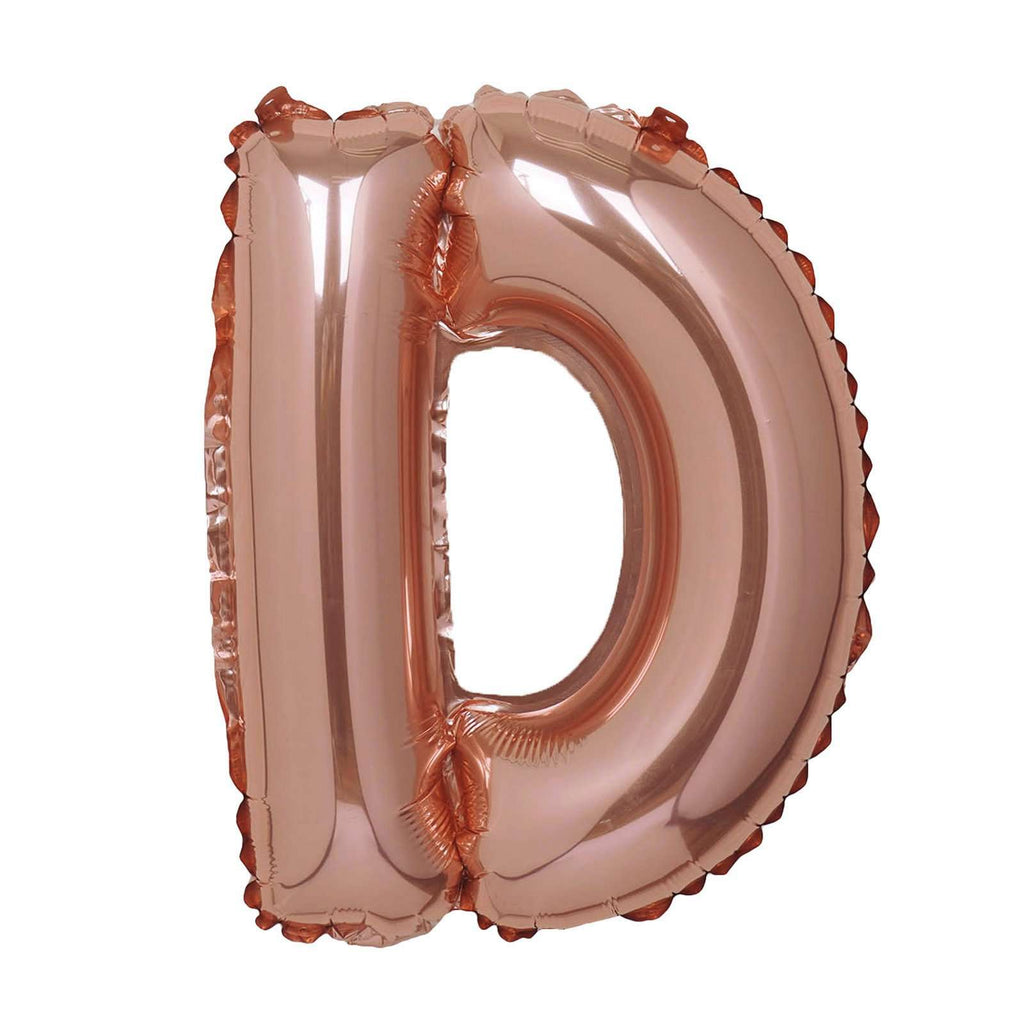 "16"" Rose Gold Mylar Foil Letter Helium Balloons Birthday Party - D"