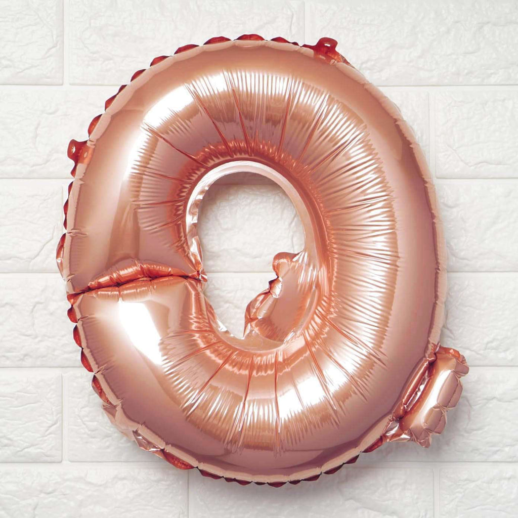 "16"" Rose Gold Mylar Foil Letter Helium Balloons Birthday Party - Q"