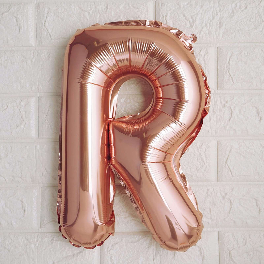 "16"" Rose Gold Mylar Foil Letter Helium Balloons Birthday Party - R"