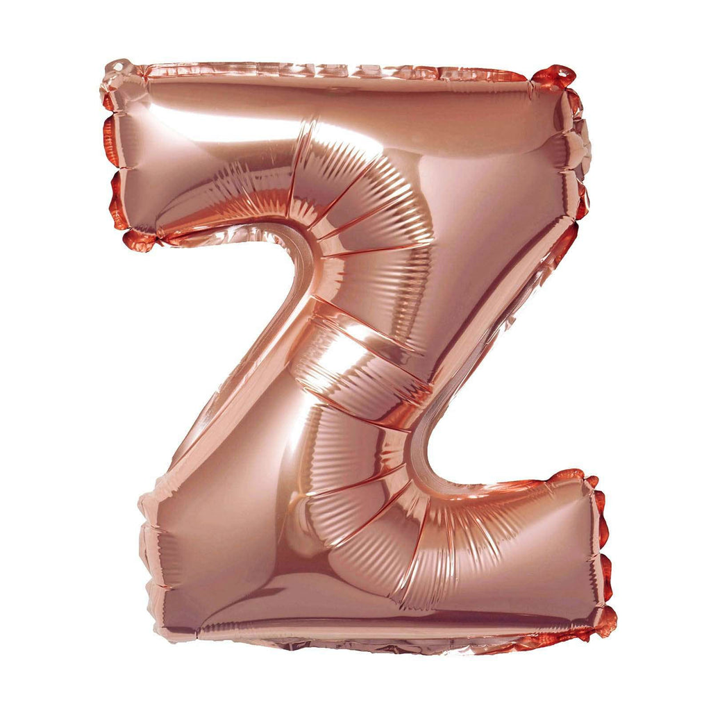 "16"" Rose Gold Mylar Foil Letter Helium Balloons Birthday Party - Z"