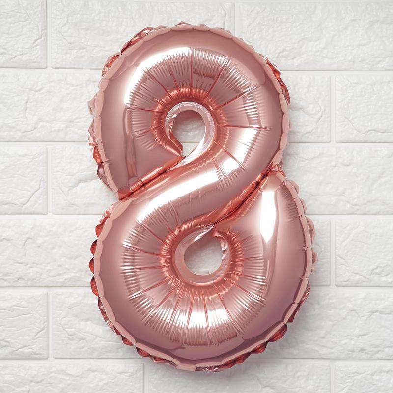 "16"" Blush Mylar Foil Number Helium Balloons Birthday Party - 8"