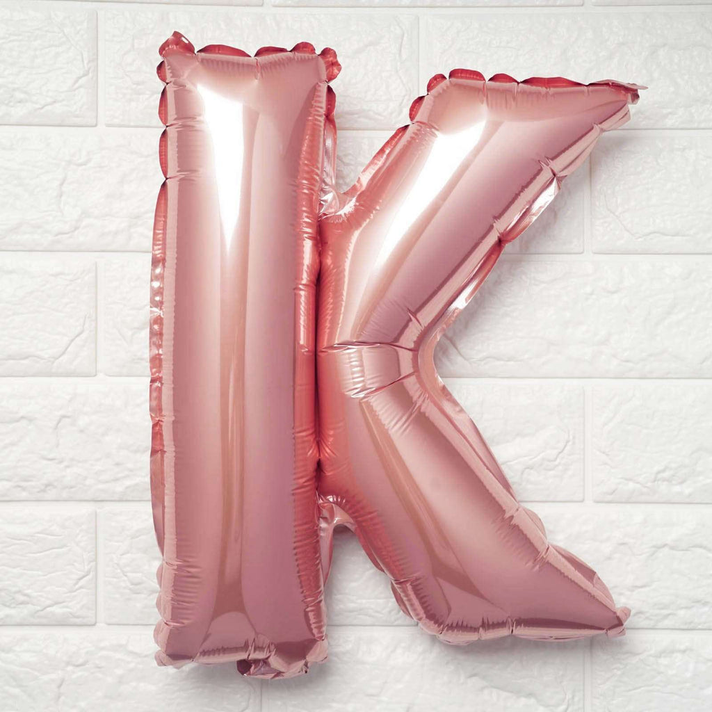 "16"" Blush Mylar Foil Letter Helium Balloons Birthday Party - K"