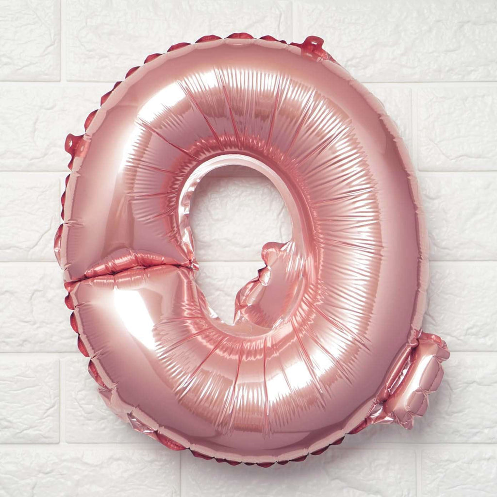 "16"" Blush Mylar Foil Letter Helium Balloons Birthday Party - Q"