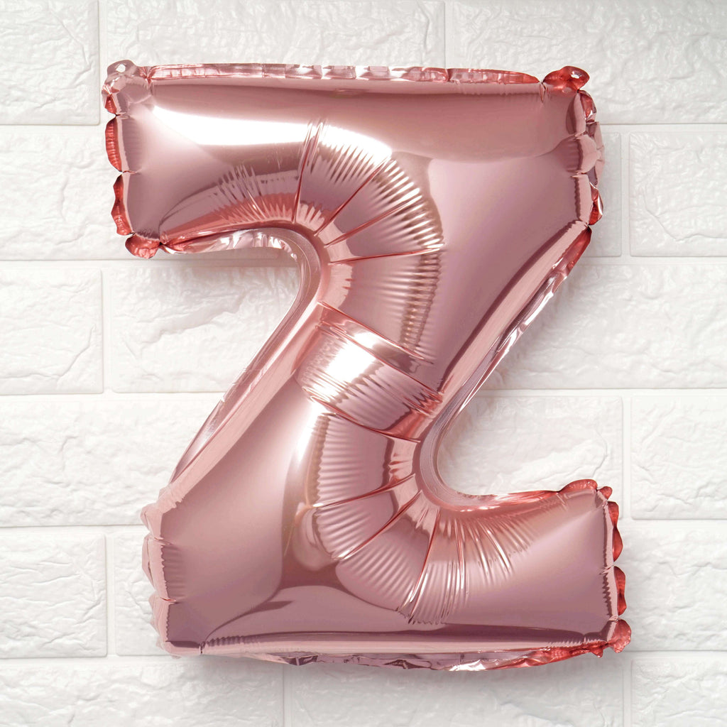 "16"" Blush Mylar Foil Letter Helium Balloons Birthday Party - Z"