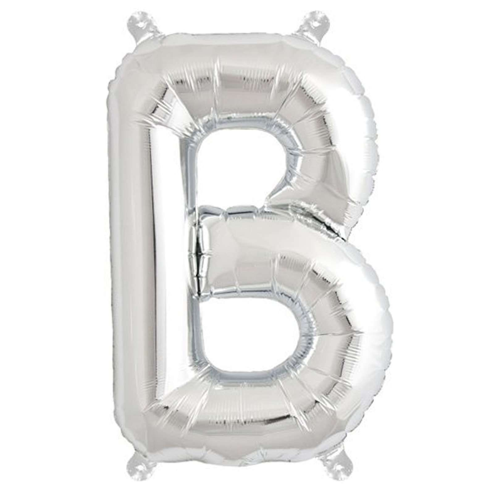 16 Silver Mylar Foil Letter Helium Balloons Birthday Party