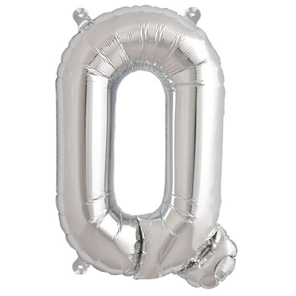 "16"" Silver Mylar Foil Letter Helium Balloons Birthday Party - Q"